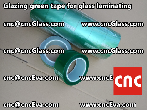 Green tape for safety glazing (2)