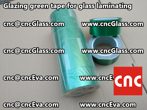 Green tape for safety glazing (3)