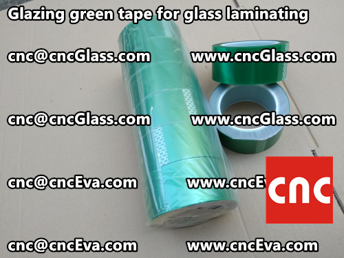Green tape for safety glazing (4)
