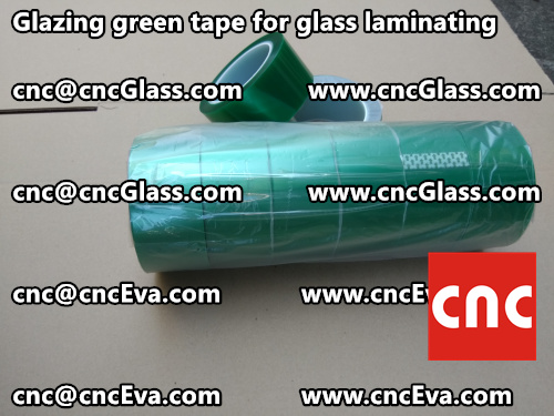 Green tape for safety glazing (6)